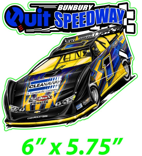 Quit BUNBURY SPEEDWAY LATE MODEL STICKER